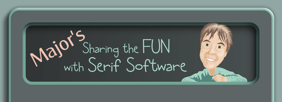 Major Confusion :: Sharing the FUN with Serif software Page Header : Kaptain-Chaos Designs ©2008